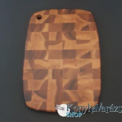 Fa vágódeszka 25,5x35,5x2 cm.kockás