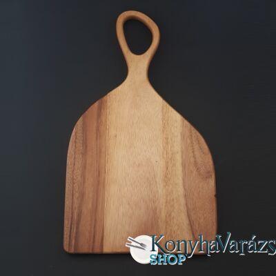 Fa vágódeszka nyeles 25x43x1,5 cm.