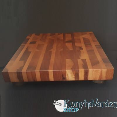 Fa tőkevágó blokk+lábak 41x46x5 cm.