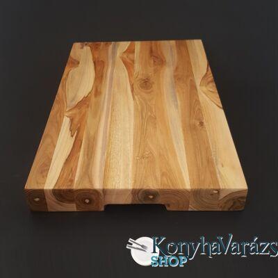 Fa tőkevágó blokk 26,3x45x4 cm fogós