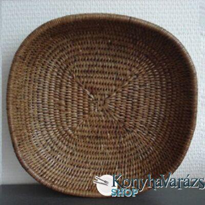 RATTAN kenyérkosár szögl. 27x27 cm