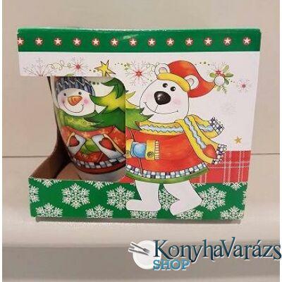 Karácsonyi porc. bögre 50 cl ablakos dobozos
