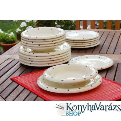 Keramika étkészlet 18 r. BARNA-BEIGE
