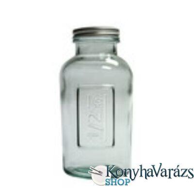 Zöld.tároló üveg 0,5 l