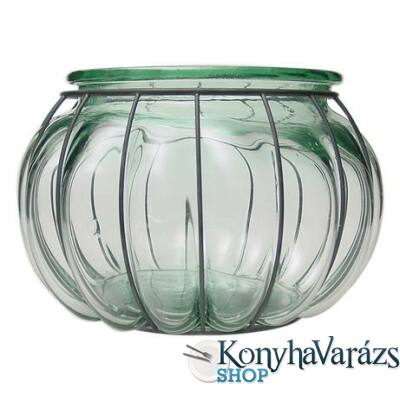 Zöld. díszüveg 18cm PECERA