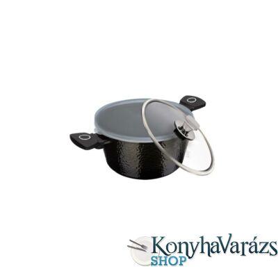 PRIMAL GLOSS bevonatos indukciós lábos üveg fedő és műanyag fedővel(tetővel)