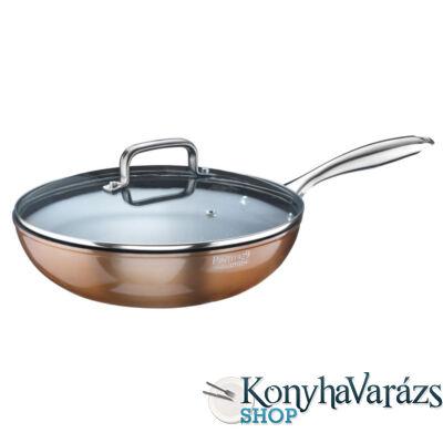 MATERIC bevonatos wok,rm.nyeles 28 cm indukciós(Pintinox)