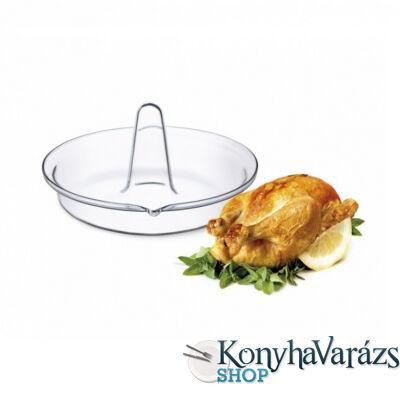 SIMAX hőálló csirkesütő , kerek, 24x13 cm