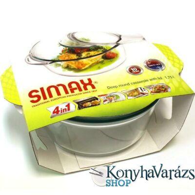 SIMAX hőálló mély kerek tál 1,75l