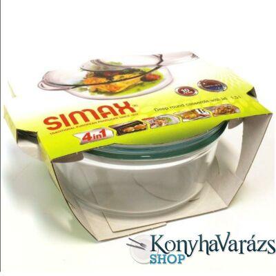 SIMAX hőálló mély kerek tál 1,5l+0,3l