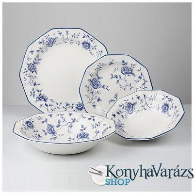 ROSE CHINTZ BLUE kerámia étkészlet 19 r.-Churchill