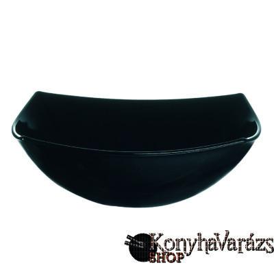 QUADRATO fekete salátás tál 16 cm