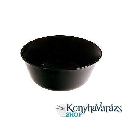 CARINE fekete salátás tálka 12 cm LOSE