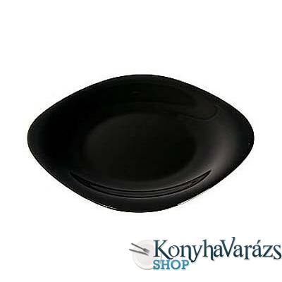 CARINE fekete tányér desszert 19 cm LOSE