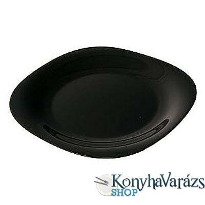 CARINE fekete tányér lapos 26 cm LOSE