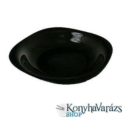 CARINE fekete tányér mély 21 cm LOSE