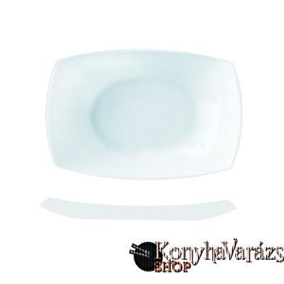 QUADRATO fehér sültes tál 35 cm