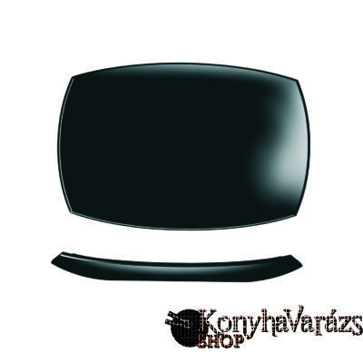 QUADRATO fekete sültes tál 35 cm