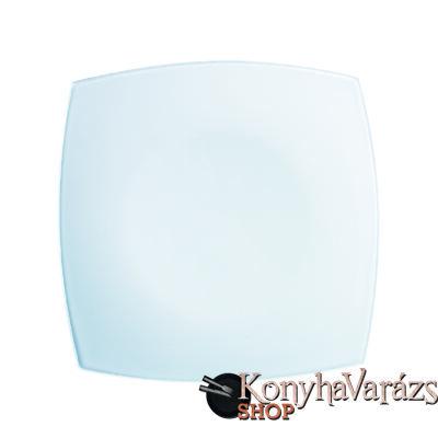 QUADRATO fehér tányér desszert 18,5cm