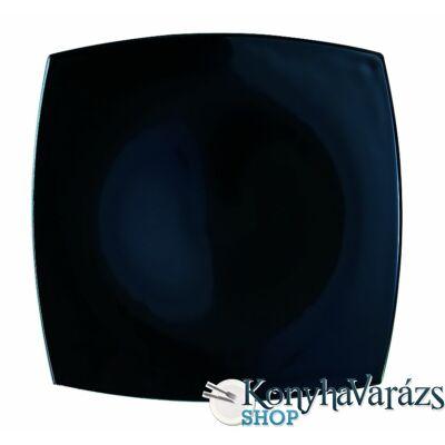 QUADRATO fekete tányér desszert 18 cm