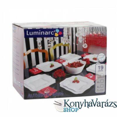 Authentic fehér 19 részes étkészlet LUMINARC