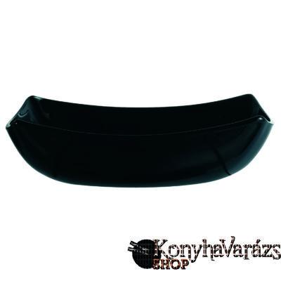 QUADRATO fekete tányér mély 20 cm
