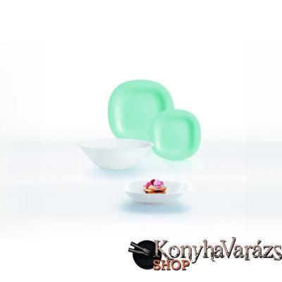 CARINE étkészlet 19 r./light turquoise-white/ türkiz-fehér-Luminarc