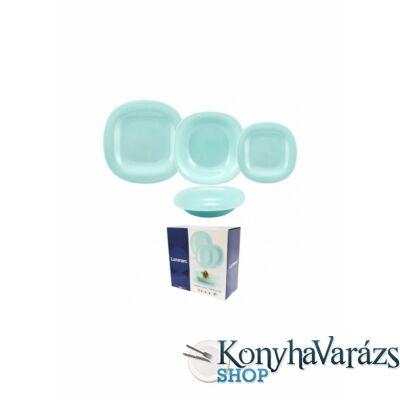 CARINE étkészlet 18 r. /turquoise/ türkiz-Luminarc