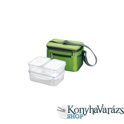 FRESHBOX ételhordó szögl.3db+hőtár.táska