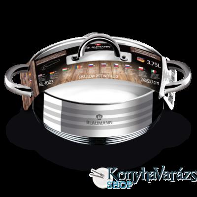 GOURMET LINE rm lábos indukciós, 24x9  cm, 3,75 l+ üveg fedő