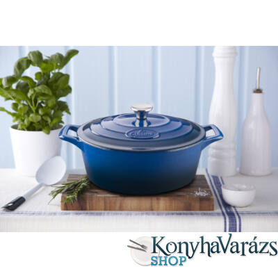 BLUE öntöttvas ovál sütőtál 29cm+4,75 L + fedő
