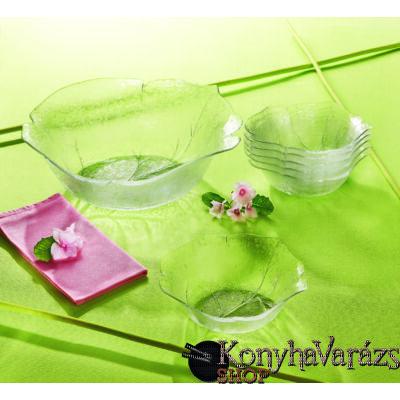 Leafen salátás készlet (üveg) 7 részes
