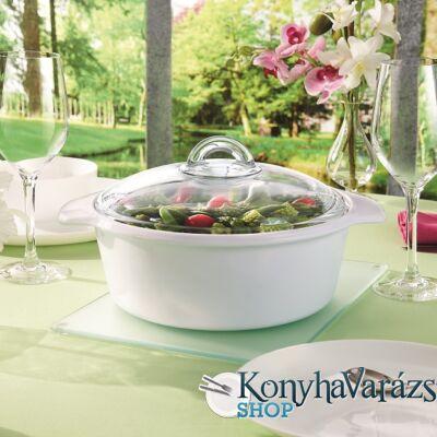 Blooming sütőtál/leveses tál kerek+üveg fedő 5 l.
