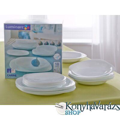 CARINE étkészlet 18 r./fehér/ Luminarc