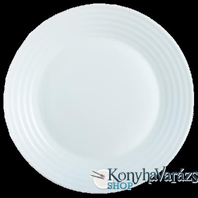 Harena üveg desszert tányér 19 cm fehér-LUMINARC