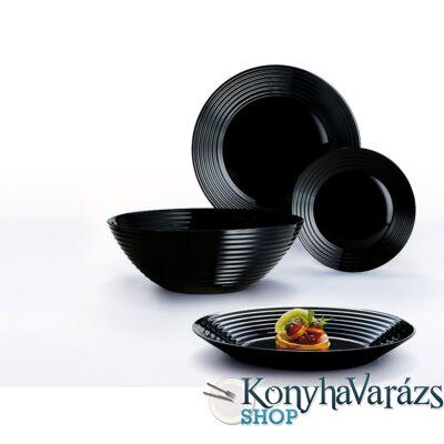 Harena üveg étkészlet 19 részes,fekete-LUMINARC