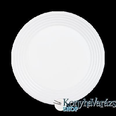 Harena üveg lapos tányér 25 cm FEHÉR