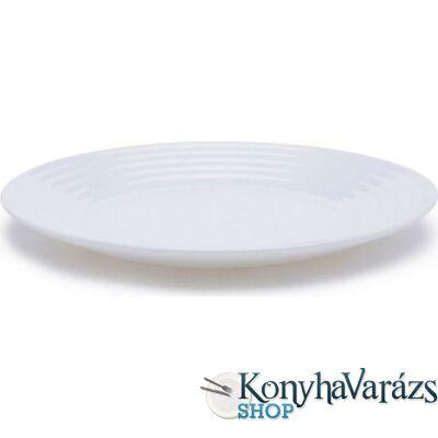 Harena üveg mély tányér  FEHÉR